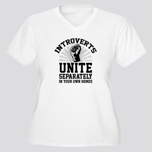 Introverts Unite Women's Plus Size V-Neck T-Shirt