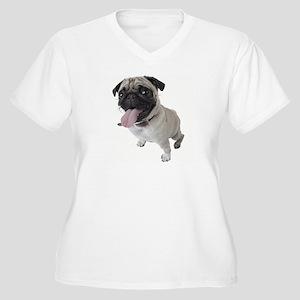 Pug Close Up Photo Plus Size T-Shirt