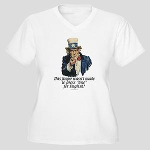 Uncle Sam's Finger Plus Size T-Shirt