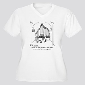 4754_organ_cartoo Women's Plus Size V-Neck T-Shirt