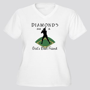 Diamonds - Girl's Best Friend Women's Plus Size V-