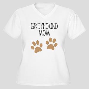 Greyhound Mom Women's Plus Size V-Neck T-Shirt