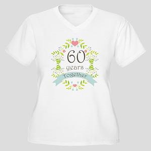 60th Anniversary Women's Plus Size V-Neck T-Shirt