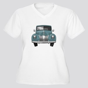 1940 Ford Truck Women's Plus Size V-Neck T-Shirt