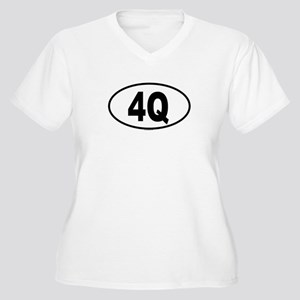 4Q Womes Plus-Size V-Neck T-Shirt