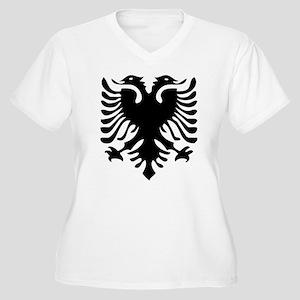Albanian Eagle Women's Plus Size V-Neck T-Shirt