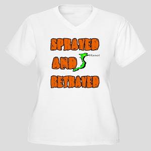 SPRAYED Women's Plus Size V-Neck T-Shirt