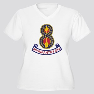 3-Army-8th-Infant Women's Plus Size V-Neck T-Shirt