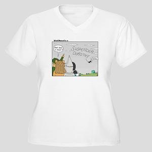 AutoCorrecting Women's Plus Size V-Neck T-Shirt