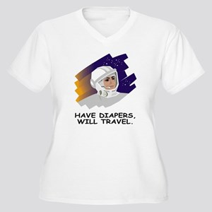 NASA-Have-Diapers Women's Plus Size V-Neck T-Shirt