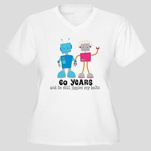 60 Year Anniversary Robot Couple Women's Plus Size