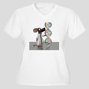Transgenic mouse, Women's Plus Size V-Neck T-Shirt