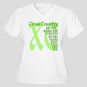 Cross Country XC  Women's Plus Size V-Neck T-Shirt