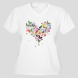 Heart of Butterflies Plus Size T-Shirt