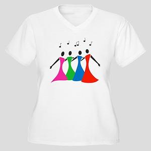 singingaloud Women's Plus Size V-Neck T-Shirt