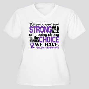 Epilepsy HowStron Women's Plus Size V-Neck T-Shirt