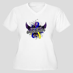 Bladder Cancer Aw Women's Plus Size V-Neck T-Shirt