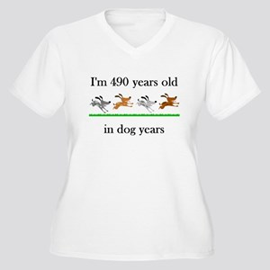 70 birthday dog years 1 Plus Size T-Shirt