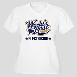 Electrician Women's Plus Size V-Neck T-Shirt