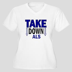 Take Down ALS 1 Women's Plus Size V-Neck T-Shirt