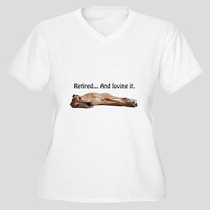 Greyhound Retired Women's Plus Size V-Neck T-Shirt