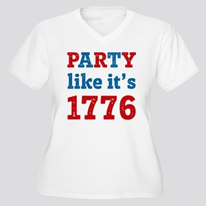 Party Like It's 1 Women's Plus Size V-Neck T-Shirt