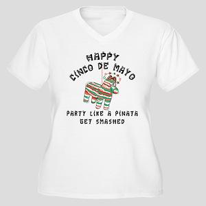 Funny Cinco de Mayo Women's Plus Size V-Neck T-Shi