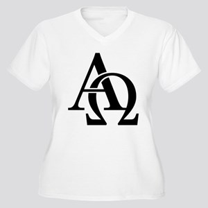 Alpha Omega Women's Plus Size V-Neck T-Shirt