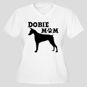 DOBIE MOM Women's Plus Size V-Neck T-Shirt