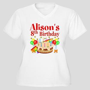 HAPPY 8TH Women's Plus Size V-Neck T-Shirt