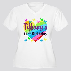 PERSONALIZED 11TH Women's Plus Size V-Neck T-Shirt