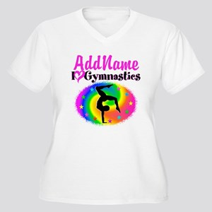 GYMNAST STAR Women's Plus Size V-Neck T-Shirt