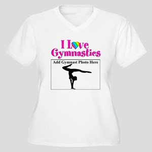 GYMNAST LOVE Women's Plus Size V-Neck T-Shirt