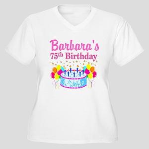 75TH CELEBRATION Women's Plus Size V-Neck T-Shirt