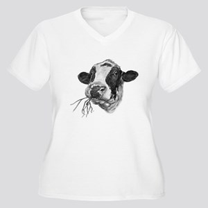 Happy Holstein Friesian Dairy Cow Plus Size T-Shir
