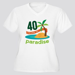 40th Anniversary (Tropical) Women's Plus Size V-Ne
