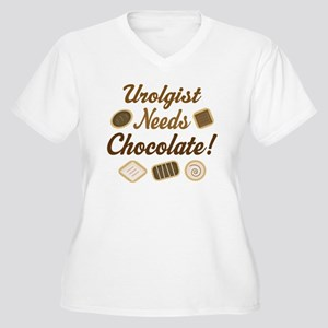 Urologist Chocolate Gift Women's Plus Size V-Neck