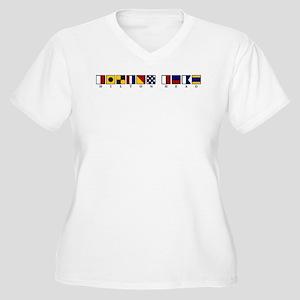 Hilton Head Women's Plus Size V-Neck T-Shirt