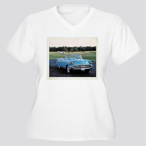 57 Chevy Women's Plus Size V-Neck T-Shirt