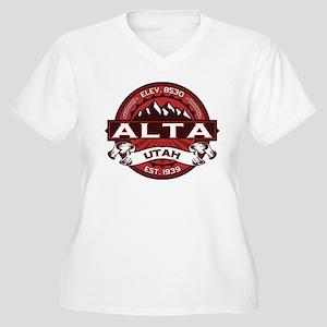 Alta Red Women's Plus Size V-Neck T-Shirt