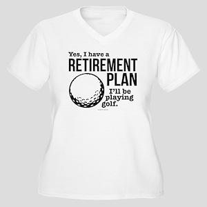Golf Retirement Plan Plus Size T-Shirt
