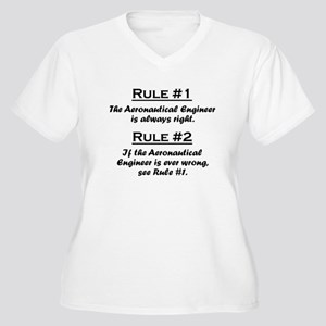 Aeronautical Engineer Women's Plus Size V-Neck T-S