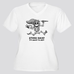 Stand Back! Women's Plus Size V-Neck T-Shirt