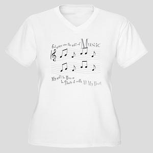 Gift of Music #1 Women's Plus Size V-Neck T-Shirt