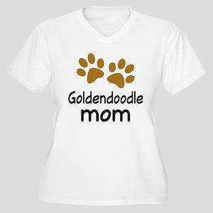 Cute Goldendoodle Mom Women's Plus Size V-Neck T-S