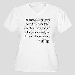 Thomas Jefferson 3 Women's Plus Size V-Neck T-Shir