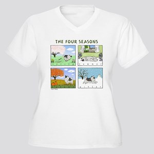 """The Four Seasons"" Women's Plus Size V-Neck Tee"
