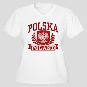 Polska Poland Women's Plus Size V-Neck T-Shirt