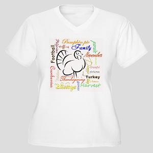 Thanksgiving words Plus Size T-Shirt