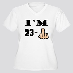 Middle Finger 24th Birthday Plus Size T-Shirt